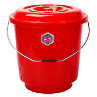 20 Ltrs Red Plastic Bucket