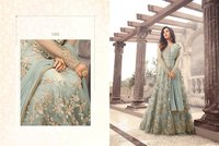 Designer Heavy Zari Work Wedding Wear Anarkali Suit