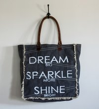 big size printed tote bag