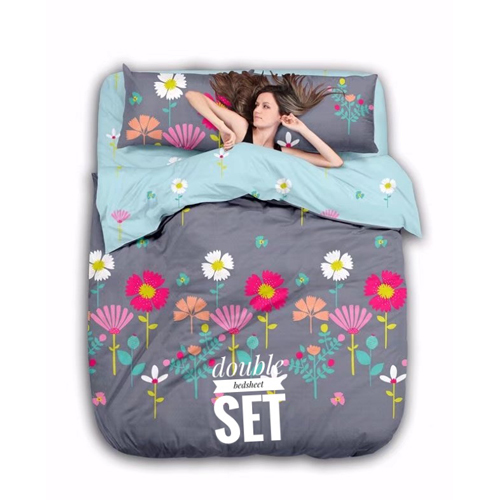 Double Printed Bedsheet Set