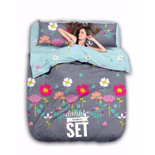 Double Printed Bedsheet Set