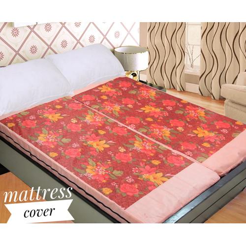 Flower Print Mattress Cover