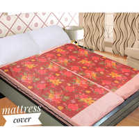 Flower Print Mattress Cover