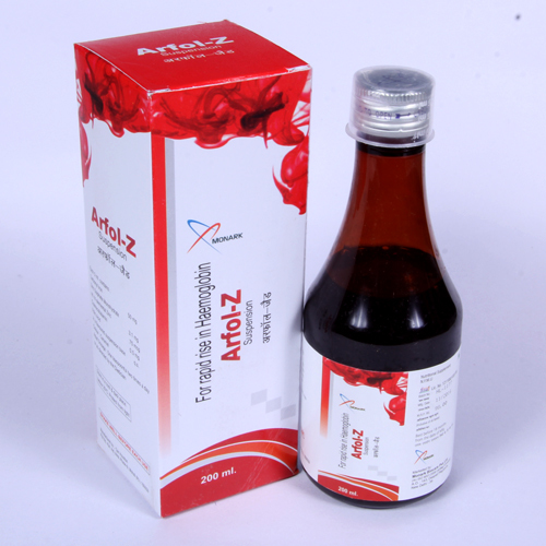 Carbonyl Iron Zinc Sulphate Folic Acid Syrup Supplier Trader