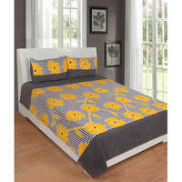 Yellow Cotton BedSheet