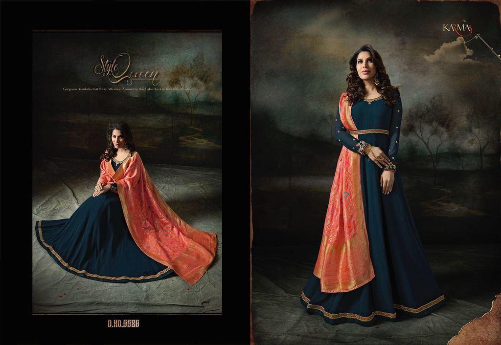 Designer Georgette Anarkali Suits