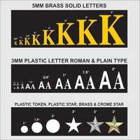 BRASS & PLASTIC READYMADE LETTERS