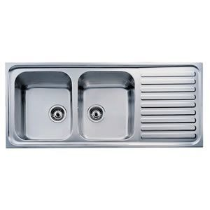 Double Bowl With Drain Board Sink