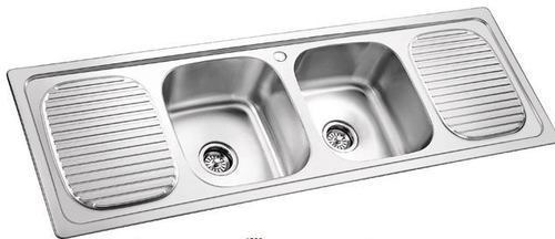 Double Bowl With Double Drain Sink