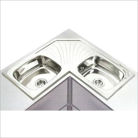 Double Bowl Corner Sink
