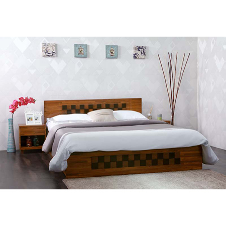 Bed with Night Stand