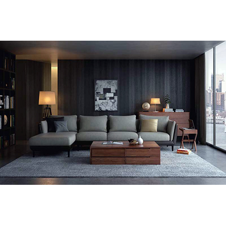 Sofa Set with Coffee Table and Corner Table