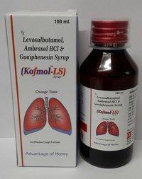 levosalbutamol 1mg, ambroxol 30mg & guaiphenesin 50 mg