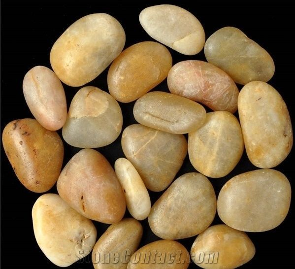 Manufacturer Natural Tumbled Yellow Pebble Stone