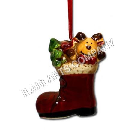 Ceramic Christmas Boot