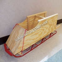 Wooden Child Bobsled
