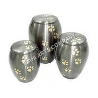 Paw Print Metal Urn