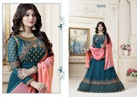 Georgette Embroidery Work Anrakali Suits