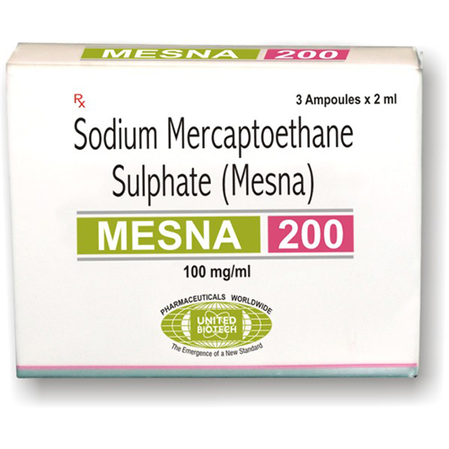 Sodium 2- Sulfanyl Ethane Sulfonate (Mesna) Injection Liquid
