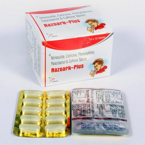 Nimesulide Cetirizine Phenylephrine,Paracetamol & Cafleine Tablets