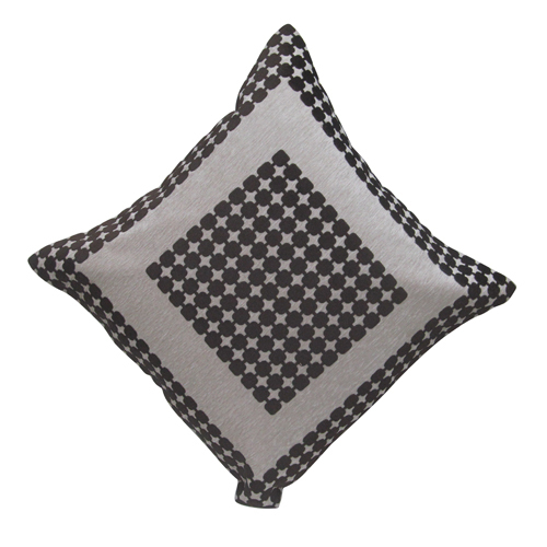 Laser Check Border Cushion Cover