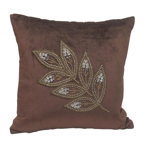 Leaf Chain Stich Cushion Cover