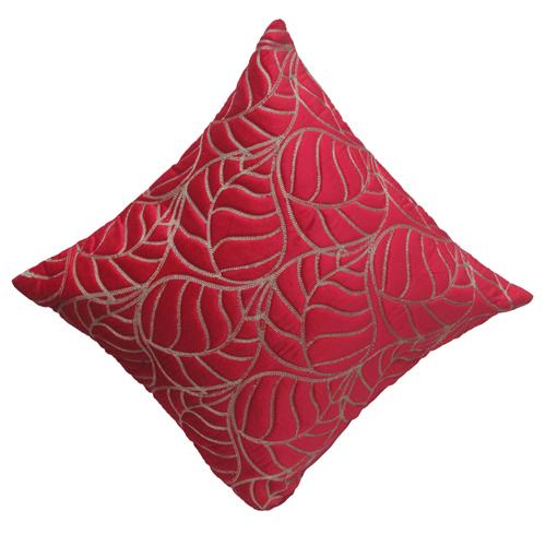 Zari Ari Leaf Cushion Cover