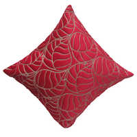 Zari Ari Leaf Cushion Cover