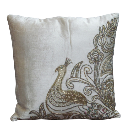 Royal Peacock Cushion Cover