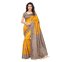 Elegant Digital Printed Mysore Silk Saree