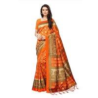 Printed Mysore Silk Saree