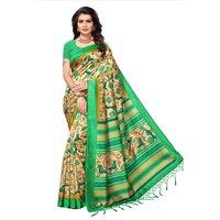 Fancy Digital Printed Mysore Silk Saree