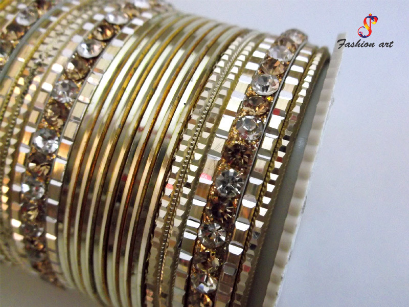 One20 Stone Studded metal Bangle