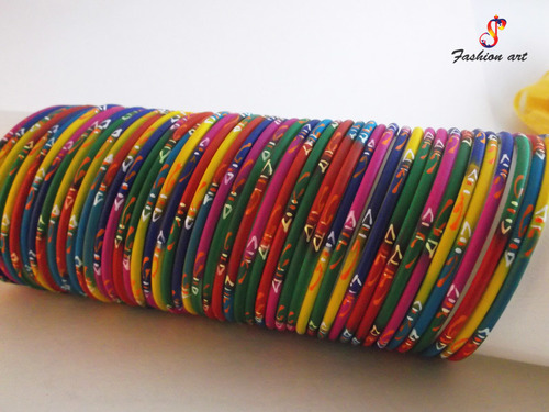 Rangoli Multicolor Metal Bangle Set