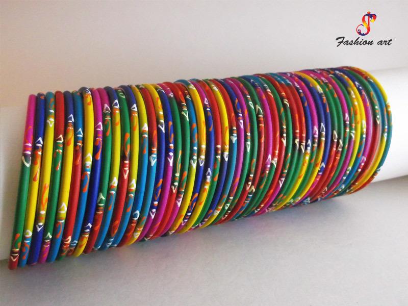 Rangoli Multicolor Metal Bangle Set