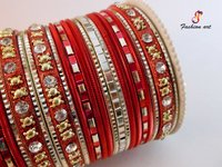 Fancy Metal Bangle Set