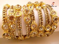 Royal Crown Brass Bangle Set