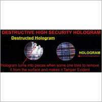 Destructive Hologram Sticker