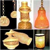Bamboo lamp shades