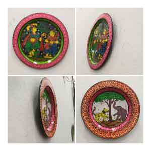 Hand painted Pattachitra Plates