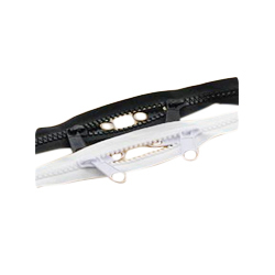 Black & White Bag Type Plastic Zippers
