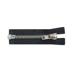 Black & White Open End Iron Zippers