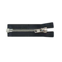 Black & White Open End Iron Zippers