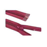 Maroon Closed End Plastic Zippers