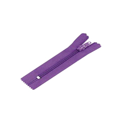 Purple Closed End Plastic Zippers