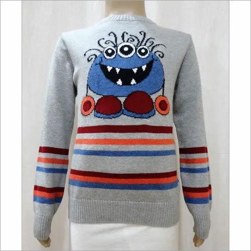 Boy Kid Intarsia Jacquard Sweater