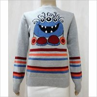 Boy Kid Intarsia Jacquard Sweater