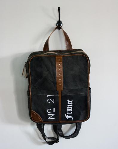 vintage backpack dark