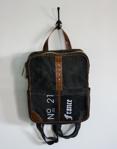 vintage backpack dark