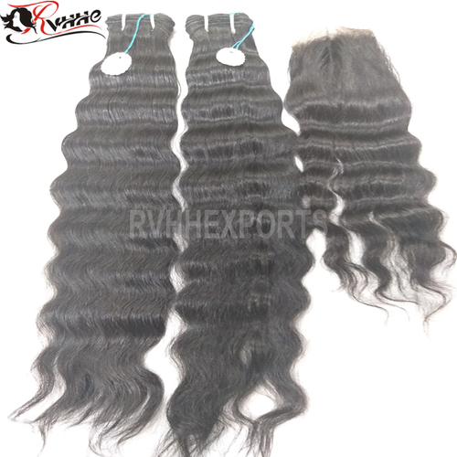 curly virgin human hair extension